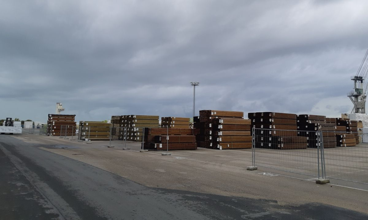 Storage of wood in Honfleur harbour